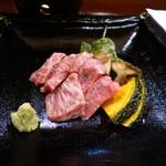 釣人料理 ほっぺち - 佐賀牛モモステーキ
