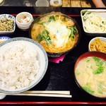 コペ - 鳥とネギの玉子とじ定食(¥750)