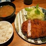 名代とんかつ かつくら - 薩摩黒豚ロースカツ(160g)2200円