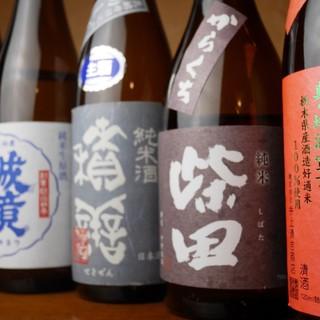 ワインの他、洋食にも合うこだわりの日本酒を多数ご用意