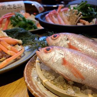 新鮮魚介の数々…のどぐろや白海老など北陸の旨いが豊富!