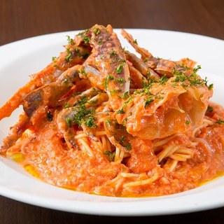 渡り蟹のトマトクリームソース他、絶品パスタがたくさん!