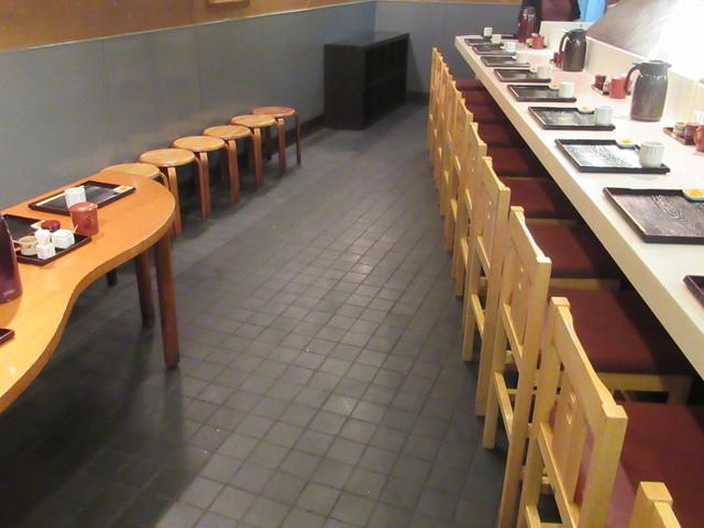 ぎおん 天ぷら 天周 - 年季の入った店内はカウンター席のみ♪