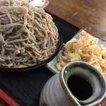 かどや - もり蕎麦大盛り+天麩羅