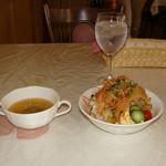 洋風めし屋 ラパンアジル - [料理] ランチ スープ & サラダ