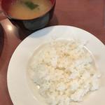 61717480 - 味噌汁 50円                       ライスはランチセット
