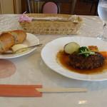 洋風めし屋 ラパンアジル - [料理] パン & 和風ハンバーグ