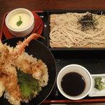 6172154 - ズワイガニと海老の天丼膳