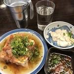 平野屋 - 湯豆腐+白子+熱燗
