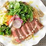 レストラン ビブ - ◆赤毛和牛いちぼのステーキ玄米サラダ丼