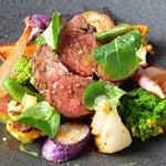 レストラン ビブ - ◆愛知県産鹿ロースのポワレ グリーンマスタードソース