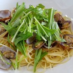 ビストロカフェ綱 TuNa - アサリと水菜のスパゲッティ