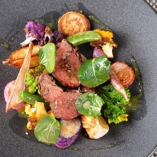 ●『味』『彩り』『旬』を意識した野菜がお皿の上にたっぷり♪