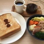 Brew Me! COFFEE & TEA TAKAMATSU - 料理写真:ドリンクに+¥500で週替わりトーストとポトフのセット