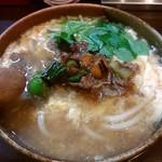 活麺富蔵 - 煮肉卵とじうどん