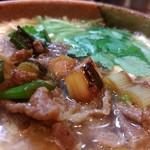 活麺富蔵 - 和牛の旨み、卵とじのまろやかさ、       焼ネギと三つ葉の風味と食感!!       どれもが素晴らしい~♪