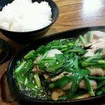 兼山 - 料理写真:ニラ豚650円とライス150円 計800円《2017年1月》