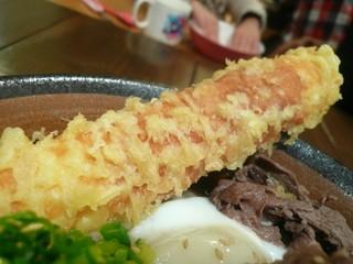 うどん屋 きすけ - 鯛ちくわの天ぷら