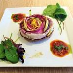 61740136 - 有機野菜の彩りタルト