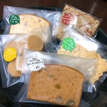61746243 - 今回のお買い物。きなこクッキーや、お豆入りパウンドケーキも好き〜♪