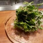 OSAKA きっちん - 春菊と白葱の塩ダレサラダ(¥650−)