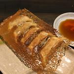 ふくやラーメン - 油っぽい羽根付きの餃子ハーフ