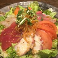 魚大将 うまかっぺや-魚大将サラダ¥580(税別)