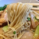 麺屋 奥右衛門 - H29.01.21 塩白湯麺「細麺」