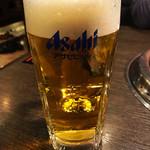 焼肉ぷるこぎ - 生ビール