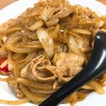 てんこもりラーメン - 生姜焼き丼アップ
