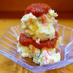 遠州屋本店 高尾 - 料理写真:ポテトサラダ 自家製トマトソース