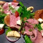 miya - 合鴨ロースの低温ロースト カマンベールと新鮮なワイルドルッコラのサラダ仕立て