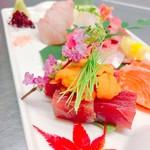 ビストロ藏の灯 - 本日の鮮魚のお刺身盛り合わせ