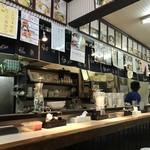 らーめん 龍の羽 - 店内カウンター!