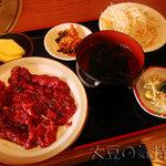 洙苑 - 焼肉定食(¥1,000)