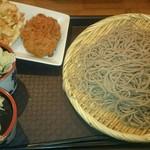 路麺えんそば - せいろ中、コロッケ、かき揚げ(2017.1)