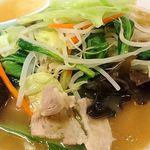 好味苑 - 好味苑 @本蓮沼 日替わりランチ Bセット タンメンにトッピングされる肉野菜炒め