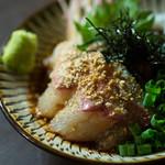 ナンリ亭 - 本日の鮮魚(写真は胡麻カンパチ)