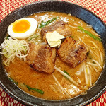 れんげ屋 - 牛バラらーめん  塩980円・味噌1030円