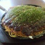 辰巳屋 - チーズ肉玉そばダブル 1,200円