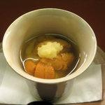 6178791 - 先付【海胆と湯葉豆腐の葛餡】