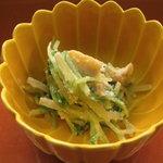 6178792 - 先付【蛤と水菜の胡麻和え】