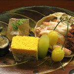 6178793 - 八寸【間人のこっぺ蟹、スッポンの煮凝り、錦玉子、鰻の八幡巻き他】