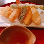 のち家 - 天ぷら 野菜、エビ、鱈の白子