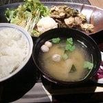 牛禅 - 豚肉の高菜炒め御膳