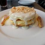 レインボーパンケーキ - マカダミアナッツソース