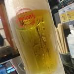 焼肉酒場 シーサードラゴン - オリオン生(500円)