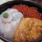 きくよ食堂 本店 - 元祖 函館巴丼(うに・帆立・いくら)