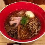 Japanese Soba Noodles 蔦 - 「醤油Soba」1000円+青森シャモロック味玉+サービス生トリュフ