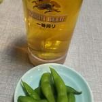 串かつ 千里 - ビールとお通し